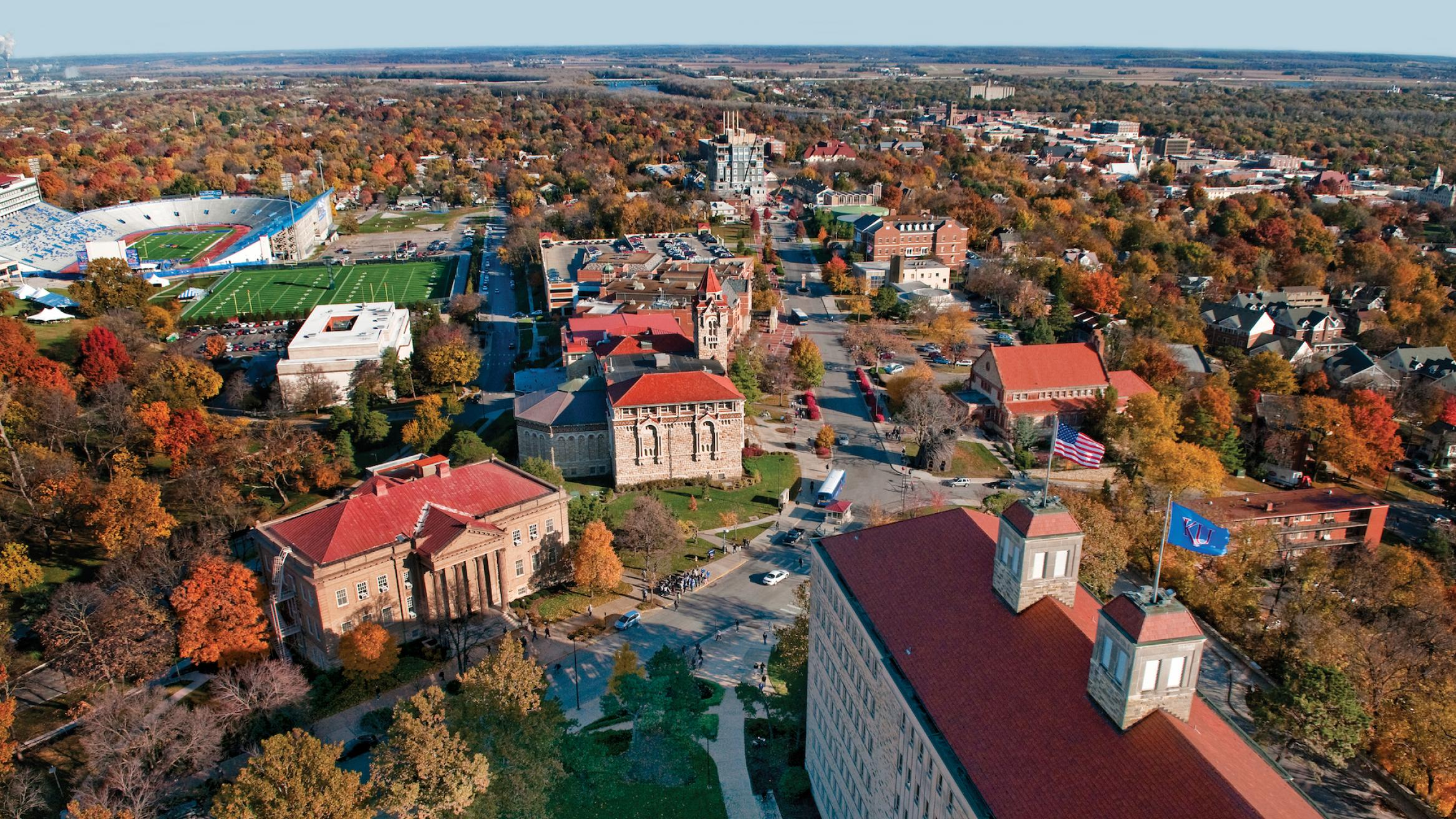 Aerial View of the KU Campus Photo
